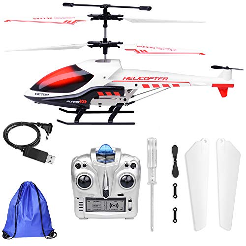RC Helicopter with Gyro – 3.5 Channel Mini RC Plane with Storage Bag