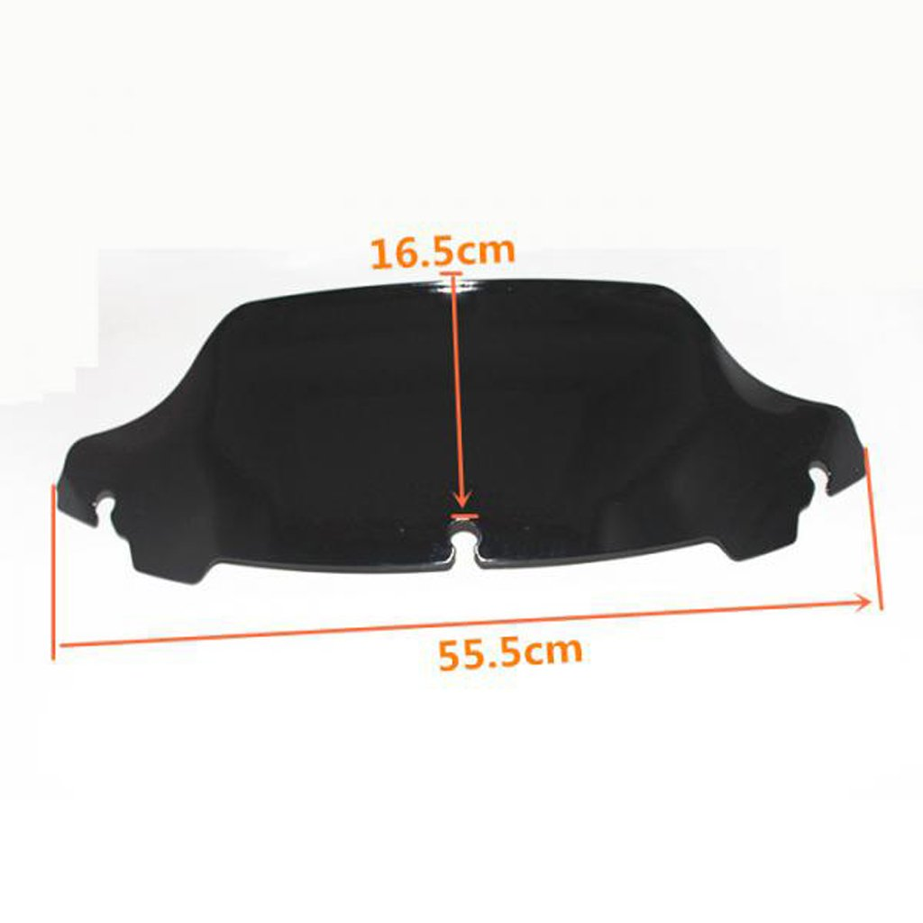 555x165x3mm MonkeyJack Motorcycle 6.5 Windshield Windscreen for Harley Touring Electra Glide FLHX 2014-2016 Smoke