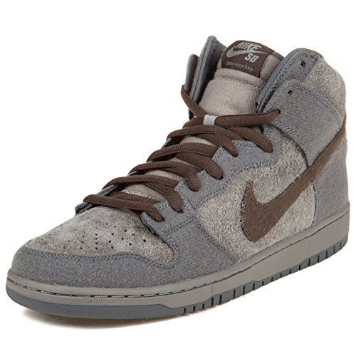 Nike Mens Dunk High Premium SB taun-taun Medium Grey/Smoke-Cool Grey Suede Skateboarding Size 10