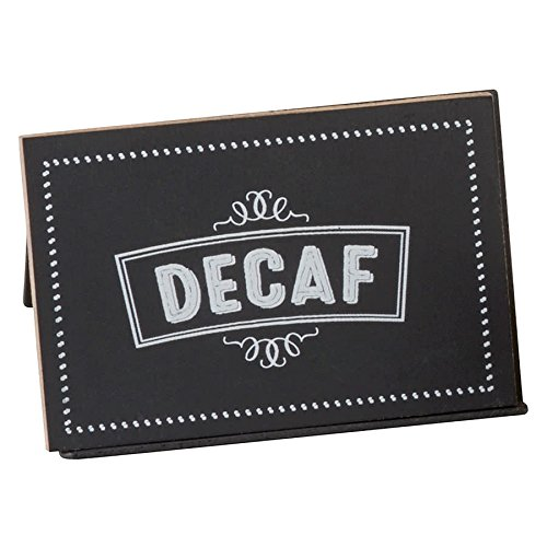 TableTop King 3047-2 Chalkboard Beverage Sign with ''Decaf'' Print - 3'' x 2'' x 2''