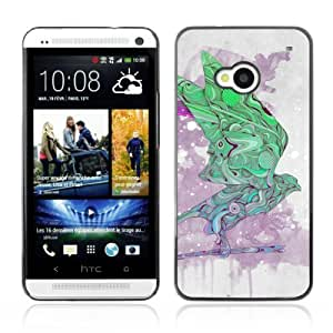 Designer Depo Hard Protection Case for HTC One M7 / Cool Abstract Pattern Bird