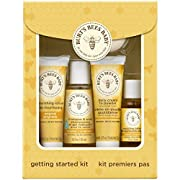 Burt's Bees Baby Getting Started Gift Set, 5 Trial Size Baby Skin Care Products - Lotion, Shampoo & Wash, Daily Cream-to-Powder, Baby Oil and Soap