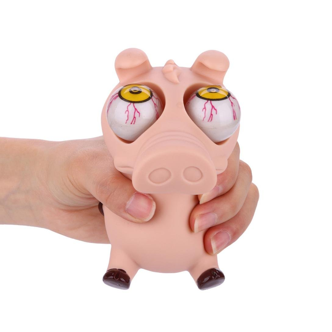 VENMO 1pc Jumbo Pop Eyes Out Pig Squishies Animals Stress Squeeze Fun Toys Birthday Gift VENMO Squishies