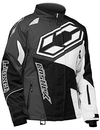 Castle X Launch SE G4 Womens Snowmobile Jacket - Black/White - Small (Small Snowmobiles Accessories)