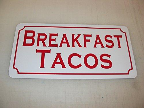 BREAKFAST TACOS Metal Sign for Food & Beverage Truck Conc...
