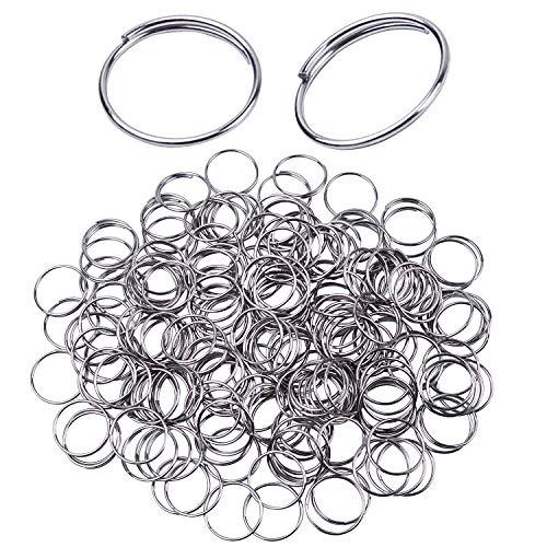 Bonayuanda 200pcs Stainless Steel Split Ring Double Loops Jump Rings Key Rings 12mm for Crystal Lamps, Crystal Curtain, Crystal Garland, Necklaces, Keys, Earrings, Jewelry Making