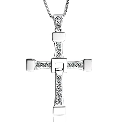 Amazon the fast and the furious dominic torettos titanium amazon the fast and the furious dominic torettos titanium steel cross pendant necklace cross jewelry mozeypictures Choice Image