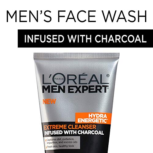 L'Oreal Men Expert Hydra Energetic Facial Cleanser with Charcoal for Daily Face Washing, Mens Face Wash, Beard and… 2