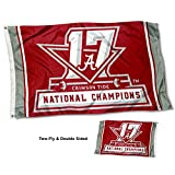 College Flags and Banners Co. Alabama Crimson Tide 17 Time National Champions Double Sided Flag