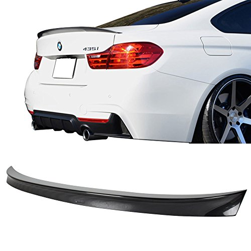 Spoiler Profile High (Trunk Spoiler Fits 2014-2017 BMW 4-Series | Performance Style Painted #B39 Mineral Gray Metallic ABS Added On Lip Wing Bodykits by IKON MOTORSPORTS | 2014 2015 2016 2017)