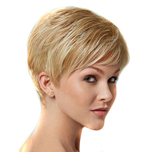 Kanuosi Short Cute Pixie Wigs For White Women Short Wigs Blonde Wig Cosplay Synthetic Wig Hairstyles