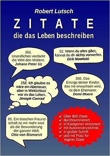 Zitate Die Das Leben Beschreiben German Edition Robert