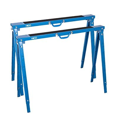 HICO Sawhorse Folding Legs Portable Metal Heavy Duty