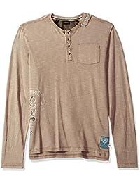 Men's Kative Long Sleeve Henley Pocket Knit Top
