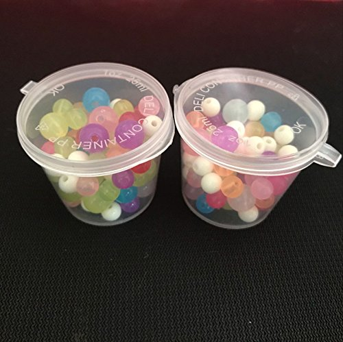 U.WILL 45 Pieces 1oz Slime Foam Ball Storage Containers Plastic Box with Lids