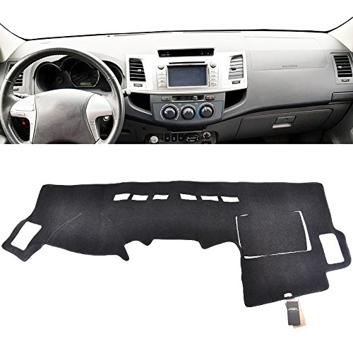 XUKEY Dashboard Cover for Toyota Hilux SW4 Fortuner 2005 2006 2007-2015 Dash Cover Mat