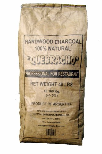 Quebracho QHWC40LB 40-Pound Carbon de Lena Hardwood Charcoal Bag