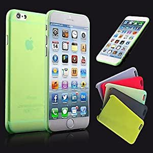 QJM iPhone 6 compatible Solid Color Back Cover , Yellow