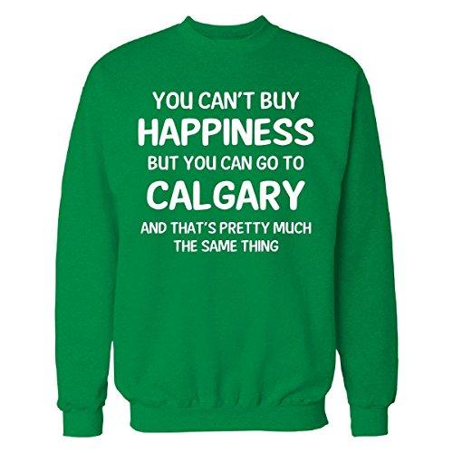 Can't Buy Happiness Can Go To Calgary - Sweatshirt Irish_green - Shop Calgary Irish