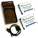 Nucleus Power JVC ADIXXION GC-XA1用 互換バッテリー BN-VH105 ×2個+USB充電器セット 互換バッテリー BI-2S-V(VH105)