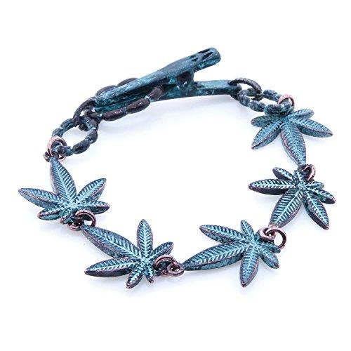 mary-jane-cannabis-leaf-style-copper-bracelet-75-inch-oxidized-copper