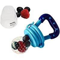 Boppin Baby Silicone Nipple Food Feeder/Teether with E-Book, Blue, 11-cm
