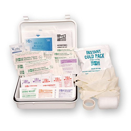 Pac-Kit by First Aid Only 7107 64 Piece Travel First Aid Kit in Weatherproof Plastic Case