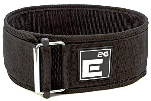 Element 26 Self-Locking Weight Lifting Belt | Premium Weightlifting Belt for Serious Crossfit, Power Lifting, and Olympic Lifting Athletes (Extra Large, Black)