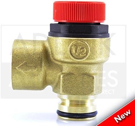 Potterton Gold 24HE 28HE /& 33HE Boiler 3 Bar Pressure Relief Safety Valve 248056