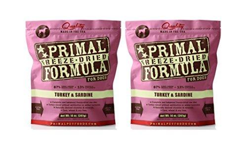 Primal Freeze Dried Nuggets for Dogs 14 oz x 2 Packs – Turkey & Sardine Formula