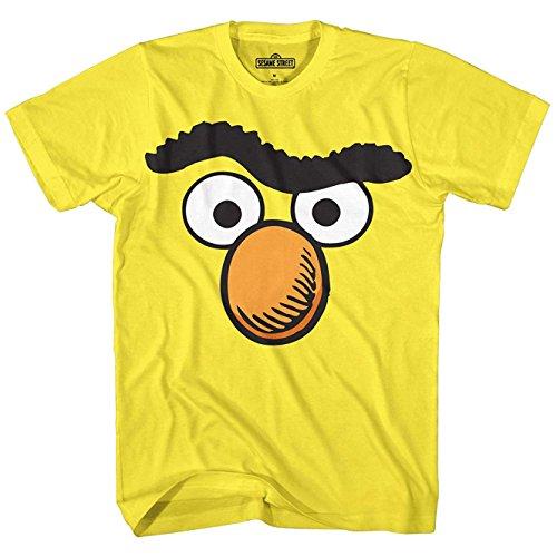 Sesame Street Bert Face Burt Tee Funny Humor Pun Adult Mens Graphic T-Shirt Apparel Small -