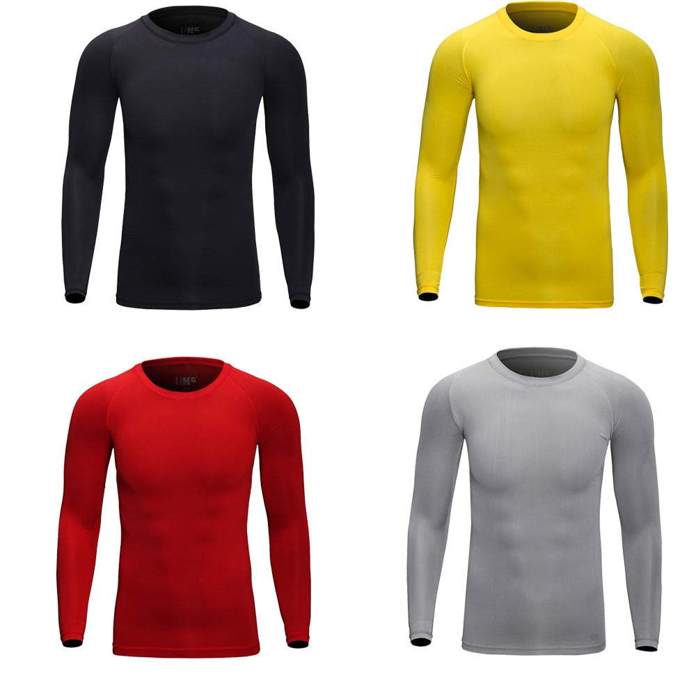 Tops Winter Mens Underwear Base Layers Thermal Fleece Keep Warm Working Outside UHTH US XL Peppermint Store Unisex Adults Yellow Size TAG 2XL