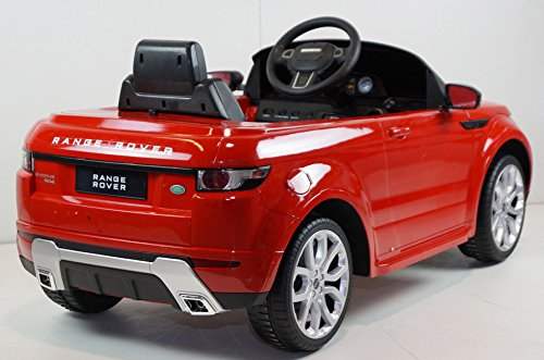electric battery operated ride on car toy range rover evoque 81400 with remote control red. Black Bedroom Furniture Sets. Home Design Ideas