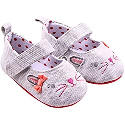 Iuhan Toddler Kids Baby Girls Cute Solid Bowknot Cat Ears Sandals Newborn Shoes (Age:0~6 Month)