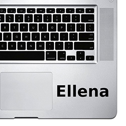 (2x) StickAny Palm Series Ellena Sticker for Macbook Pro, Chromebook, and Laptops (Black) ()