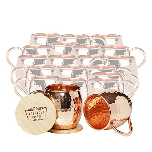 Set of 20 Advanced Mixology Barrel Mugs (Copper Handle) by Advanced Mixology