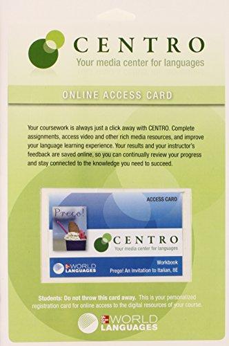 Quia  Workbook Access Card for  Prego!