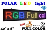LED RGB color sign 40'' x 8'' with WiFi connection and high resolution P10 with new SMD technology. New software included