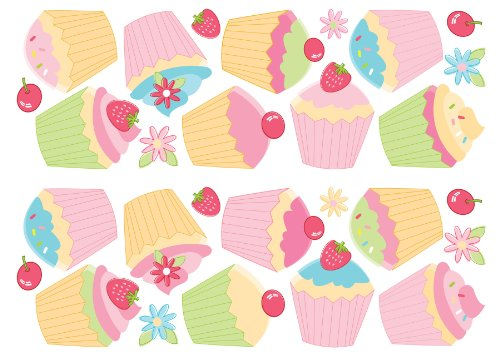 Fun4Walls SA30169 SA30169 Cupcake Wall - Wall Stickers Cupcake