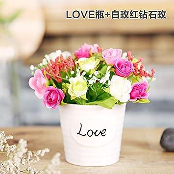 Amazon Xhopos Home Artificial Flowers Plants Plastic Miniature