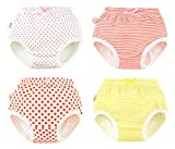 4 Pack Baby Girl Boy Toliet Pee Potty Training Pants Soft Cotton Diaper Nappy Underwear