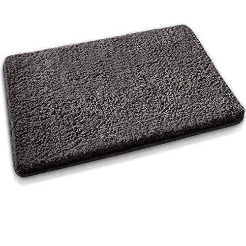 Badematte aus weichem & kuscheligem Hochflor | Öko-Tex zertifiziert | anthrazit | 70x120cm