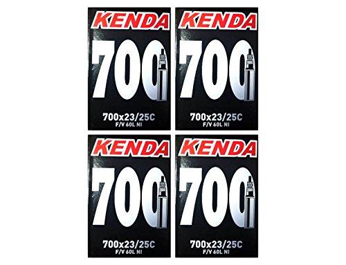 Kenda 700 x 23/25c Bicycle Inner Tubes 60mm Presta Valve - FOUR (4) PACK