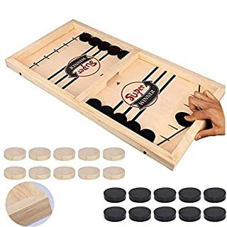 Fast Sling Puck Game, Table Desktop Battle Ice Hockey Game/Winner Board Chess Games for Adults and Kids