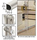 Brushed Stainless 60'' Designer Series ''D'' Shape Locking Ladder Pull