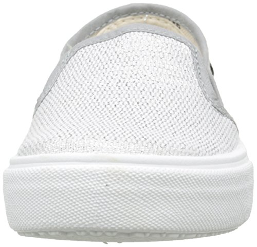 Victoria Slip On Tejido Lurex - Zapatillas de deporte Unisex Niños Plateado - Argent (14 Plata)