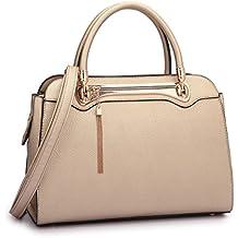 Tassel Fringed Women Designer Handbags Satchel Purses Top Handle Structured Shoulder Bags
