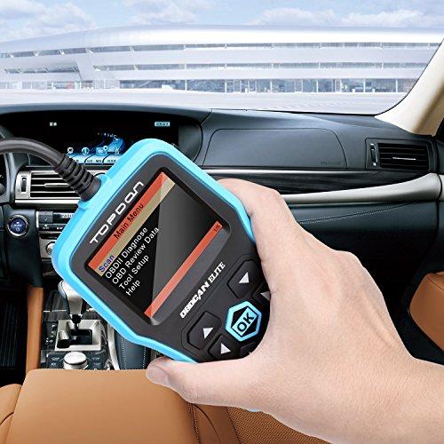 OBD2 Scanner, TT TOPDON ABS/SRS Scanner Universal CAN OBD2 Scanner OBDII Car Computer Diagnostic Tool Car Code Reader for DIY and Professional (Topdon Elite) by TT TOPDON (Image #2)
