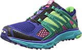 Salomon Women's XR Mission W Trail Running Shoe,Blue/Emerald Green/Hot Pink,10 M US