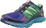 Salomon Women's XR Mission W Trail Running Shoe,Blue/Emerald Green/Hot Pink,10 M US